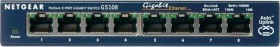 Netgear ProSAFE GS108 Desktop Gigabit Switch, 8x RJ-45 (GS108GE)