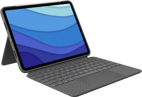 "Logitech Combo Touch, KeyboardDock for Apple iPad Pro 11"" 2020 / 2021, grey, UK (920-010148)"