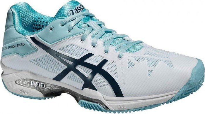 Asics Gel-Solution Speed 3 Clay weiß/blau (Damen) (E651N-0161)