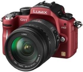 Panasonic Lumix DMC-GH1 rot mit Objektiv Lumix G Vario HD 14-140mm 4.0-5-8 OIS (DMC-GH1K)