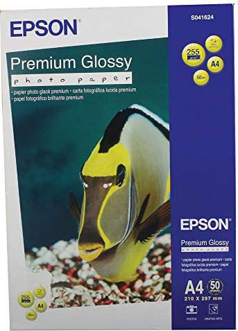Epson S041624 premium photo paper shiny, A4, 255g, 50 sheets -- via Amazon Partnerprogramm