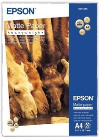 Epson mat paper - heavyweight A4, 167g/m², 50 sheets (S041256)