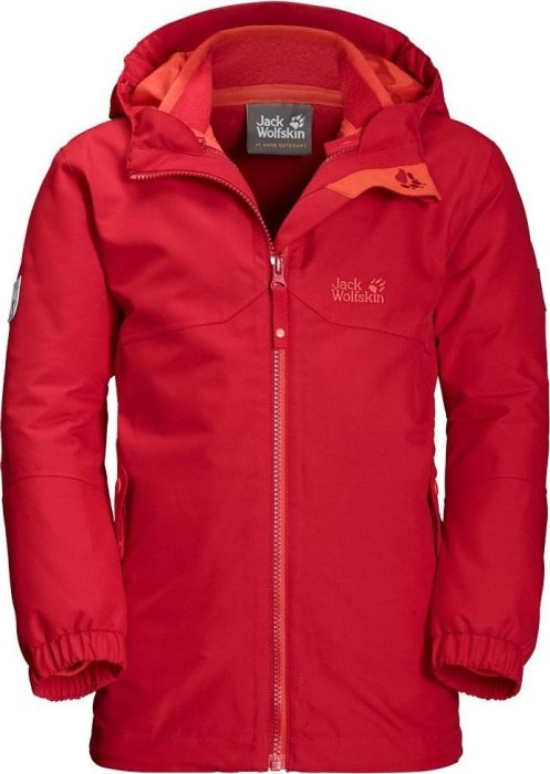 low priced d3335 e24b3 Jack Wolfskin Boys Iceland 3in1 Jacke ruby rot (Junior) (1605253-2505) ab €  73,00
