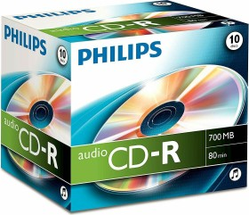 Philips CD-R 80min/700MB audio, 10 pieces-Jewelcase (CR7A0NJ10/00)