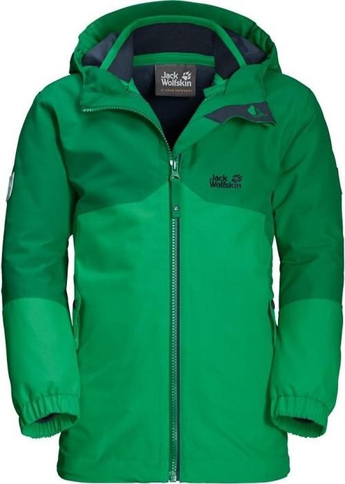 the latest be4e4 768f4 Jack Wolfskin Boys Iceland 3in1 Jacke evergreen (Junior) (1605253-4075)