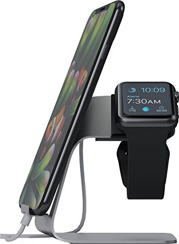 Wentronic Goobay Ständer für die Apple Watch und Smartphone silber (62116) -- via Amazon Partnerprogramm