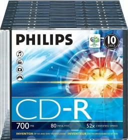 Philips CD-R 80min/700MB, 10-pack Slimcase (CR7D5NS10/00)