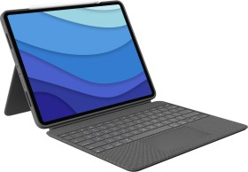 "Logitech Combo Touch, KeyboardDock for Apple iPad Pro 12.9"" 2021, grey, UK (920-010214)"