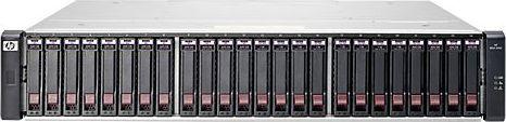 HP StorageWorks SAN MSA 1040 SAS SFF, 4x Gb LAN, 2HE (E7W02A)