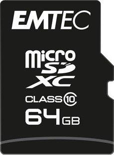 Emtec Classic R20/W12 microSDXC 64GB Kit, Class 10 (ECMSDM64GXC10CG)