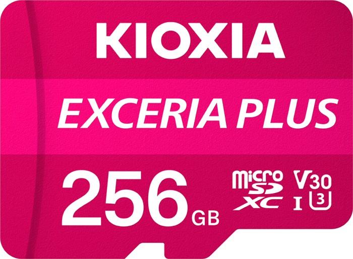 KIOXIA EXCERIA PLUS R100/W85 microSDXC 256GB Kit, UHS-I U3, A1, Class 10 (LMPL1M256GG2)
