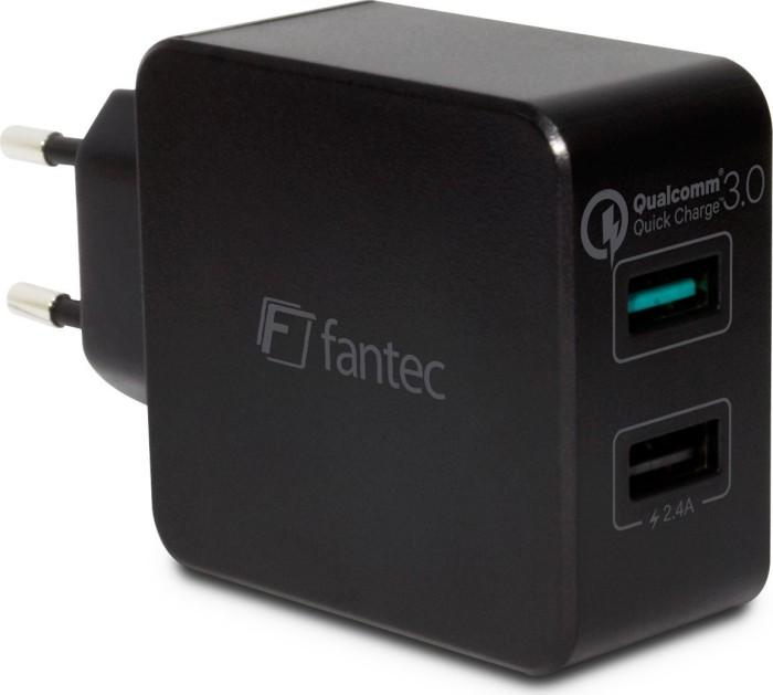 Fantec QC3-A21 Quick Charge 2-Port USB Schnellladegerät (1950)