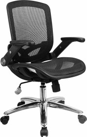 Yulukia Rückendreh-office chair with armrests, black (200001)