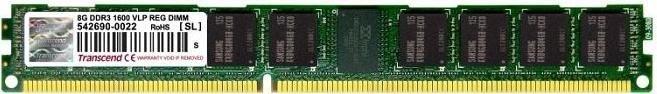 Transcend VLP DIMM 8GB, DDR3-1600, CL11, reg ECC (TS1GKR72V6HL)