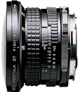 Pentax smc 67 35mm 4.5 fisheye black (29120)
