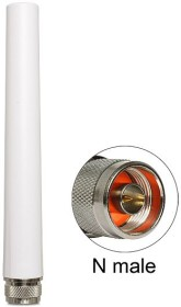 DeLOCK omnidirectional rigid 2.4GHz 8dBi antenna, outdoor, grey, 0.17m (88452)