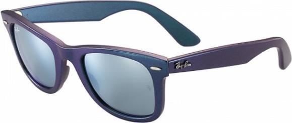 33046731f6 Ray-Ban RB2140 Wayfarer Cosmo Mercury 50mm blau-violett silber flash (6113