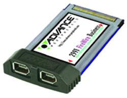 Advance 2991 FireWire PC Card, PCMCIA