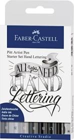 Faber-Castell PITT artist pen Starter Set Hand Lettering, Grautöne, 9-teilig (267118)
