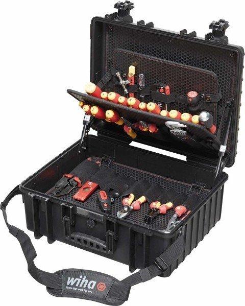 Wiha 9300-702 VDE-Werkzeugsatz Elektriker Competence XL Werkzeugkoffer bestückt inkl. 80-tlg. Zubehör (40523)