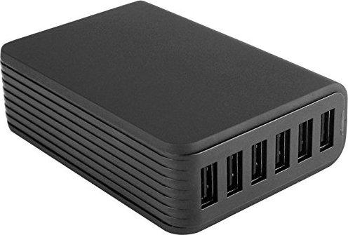 Fontastic Netzteil Zeta 6x USB 12A 60W schwarz (250330) -- von notebooksbilliger.de