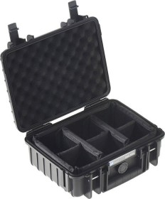 B&W International outdoor case type 1000 case black with variable compartments (1000/B/RPD)