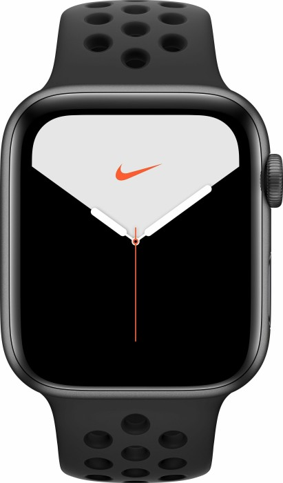 Apple Watch Nike Series 5 (GPS) 44mm Aluminium space grau mit Sportarmband anthrazit/schwarz (MX3W2FD)