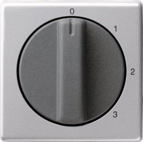 Gira Abdeckung mit Knebel für 3-Stufenschalter, aluminium (0669 203)