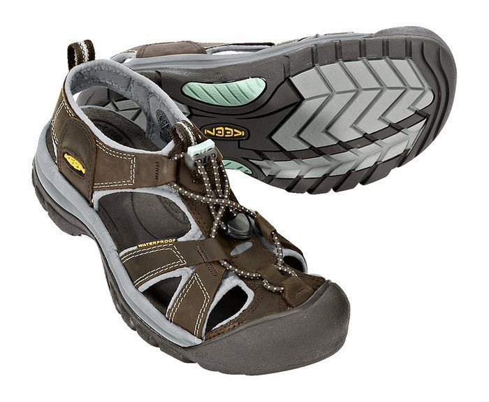 Keen VENICE 5210-BOSS, Damen Outdoor Sandalen, Braun (Black Olive/Surf Spray), EU 39 (US 8.5)