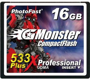 Photofast G-monster CompactFlash Card (CF) 533x Plus 16GB (GM-533CF16SL)