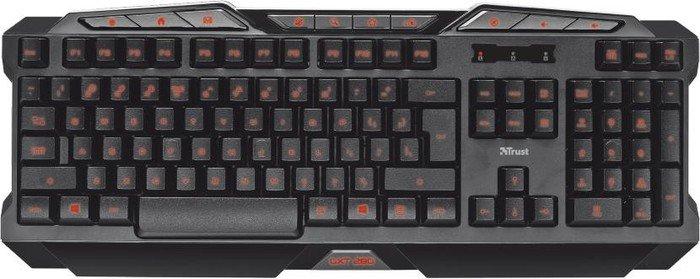 Trust Gaming GXT 280 LED Illuminated Gaming Keyboard, USB, DE (18913)