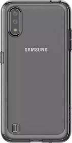 Samsung Silicone Cover für Galaxy A01 schwarz (GP-FPA015KDABW)