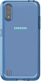 Samsung Silicone Cover für Galaxy A01 blau (GP-FPA015KDALW)