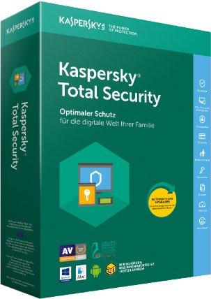 Kaspersky Lab: Total Security 2018, 3 użytkowników, 1 rok, aktualizacja, ESD (niemiecki) (Multi-Device)