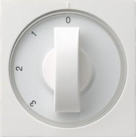 Gira Abdeckung mit Knebel für 3-Stufenschalter, reinweiß glänzend (0669 03)