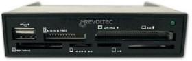 Revoltec Procyon 1.5 bulk Multi-Slot-Cardreader, USB 2.0 9-Pin Stecksockel [Stecker] (RZ061)
