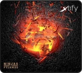 Xtrfy XTP1 NiP Volcano Edition mousepad black/yellow, big (XTP1-L4-NiP-VO)