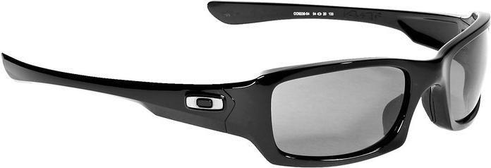 Oakley Sonnenbrille Fives Squared Polished Black/Black Iridium Polarized Brillenfassung - Lifestylebrillen wJ1OvQqJv,