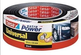tesa extra Power universal cloth tape black 50mm/50m, 1 piece (56389-00001)
