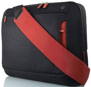 "Belkin Kurier messenger bag 15.4"" black/red (F8N050eaBR)"