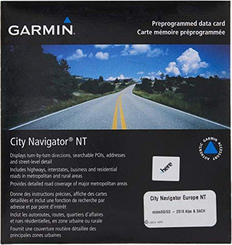 Garmin CityNavigator Europe alps + D/A/CH NT (microSD) (010-11379-00) -- via Amazon Partnerprogramm