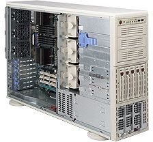Supermicro 748TQ-R1000 light grey, 4U, 1000W redundant
