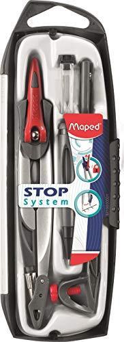 Maped Stop System Zirkelkasten, 5-teilig, grau (M196101)