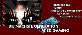 Guillemot / Hercules 3D Prophet II GTS, GeForce2 GTS, 32MB DDR, AGP