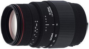 Sigma AF 70-300mm 4.0-5.6 DG APO Makro mit AF-Motor für Nikon F schwarz (5A8955)