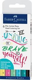 Faber-Castell PITT artist pen Hand Lettering Set, Pastelltöne, 6-teilig (267116)