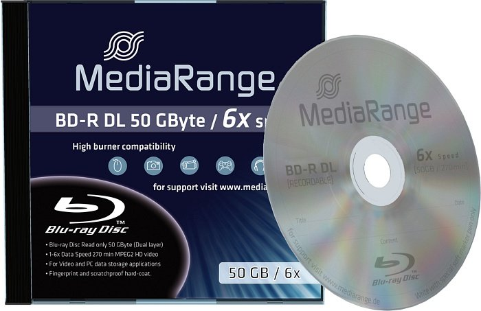 MediaRange BD-R DL 50GB 6x, 1-pack Jewelcase (MR506)