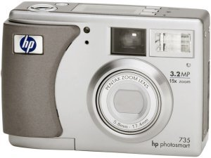 HP Photosmart 735 Digitalkamera ohne Dockingstation (Q2210A)