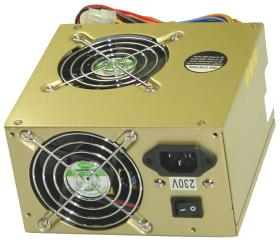 Coba 350W Dual Fan - złoto, P4, ATX