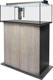 sera AquaTank 96l fiXture Aquarium-Set mit 80cm Unterschrank, Silver Oak (32451)